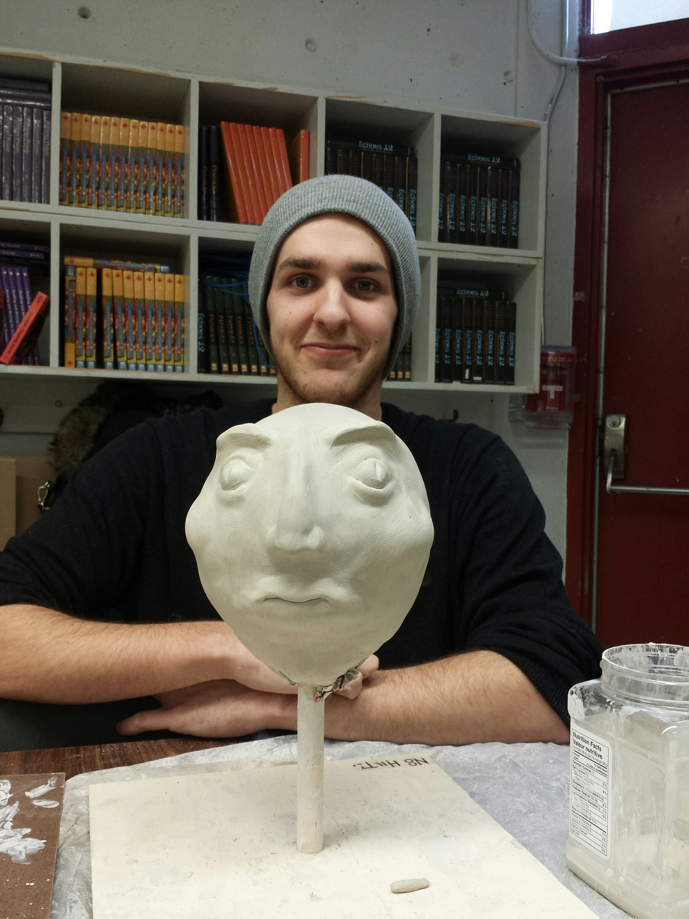 nate and his sculpture