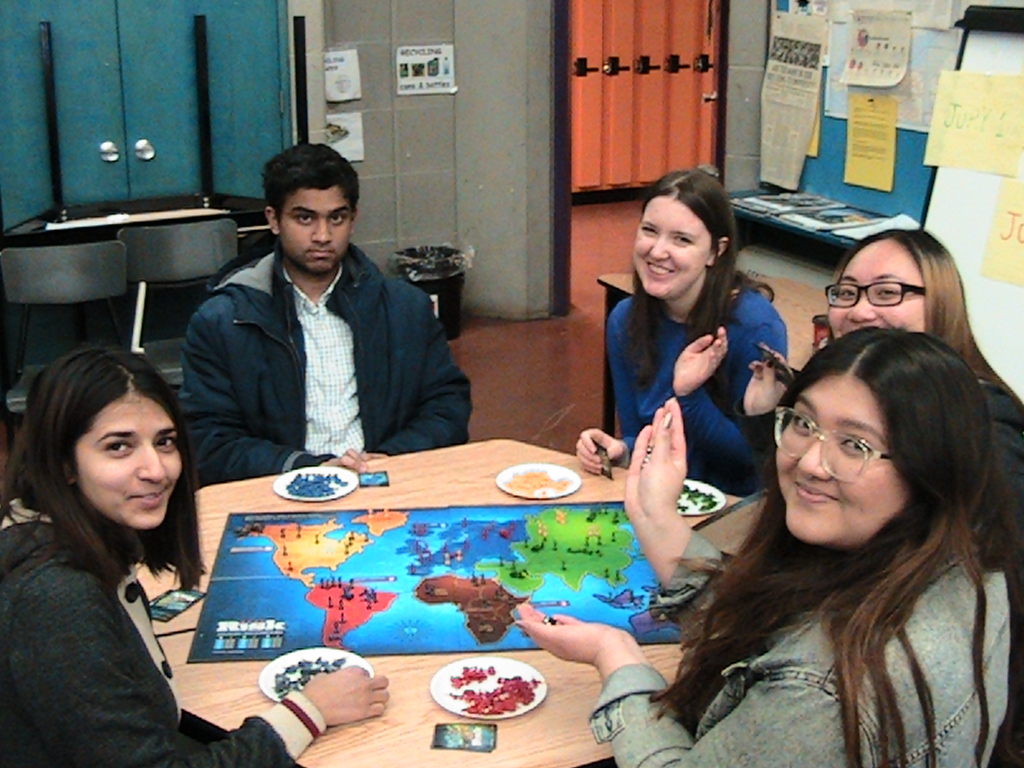 students playing risk