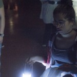 students in lantern light