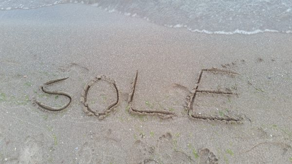 sole written in sand